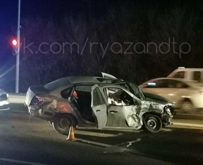 Появились фото с места ДТП с автомобилем полиции под Рязанью