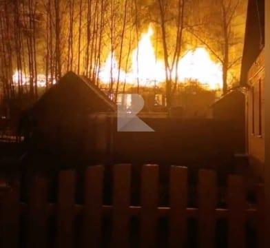 В Солотче произошёл серьёзный пожар