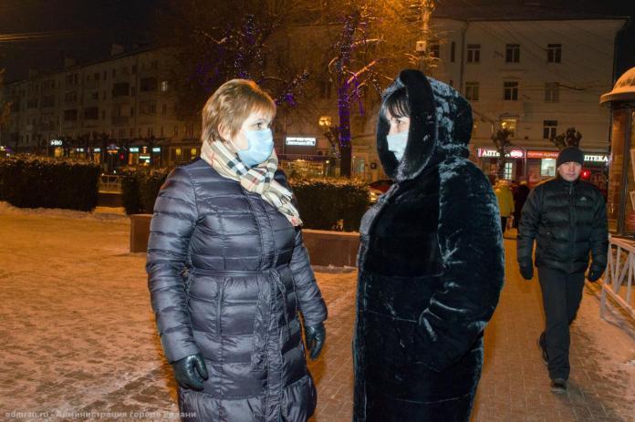 Мэр Елена Сорокина проверила, готова ли Рязань к новогодним праздникам
