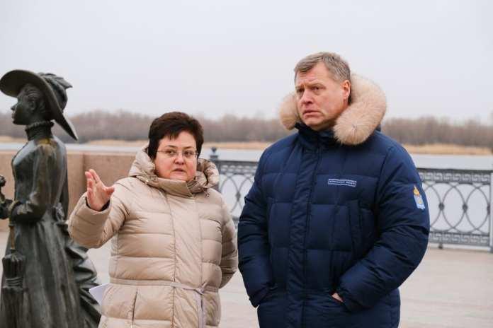 Тротуар на улице Максима Горького в Астрахани расширят