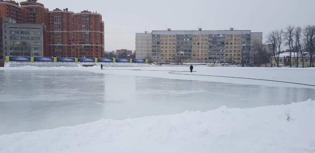 В Рязани откладывается открытие катка на стадионе «Локомотив»