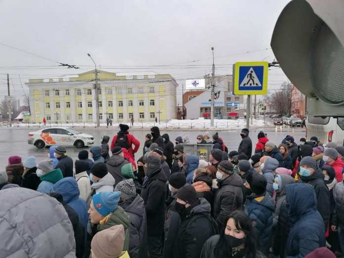 Рязанская полиция быстро и чётко пресекла несанкционированную акцию 31 января