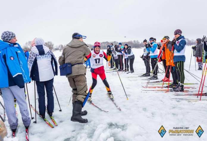 Зимний рыбатлон прошел в Рязани при незимней погоде