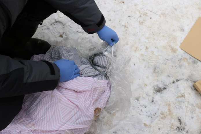 В Рязани около мусорных баков в пакете обнаружили труп
