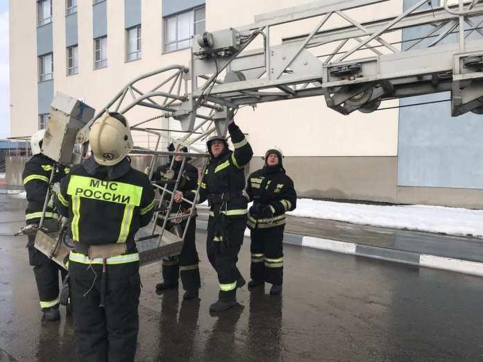 В Академии единоборств в Рязани прошли учения МЧС