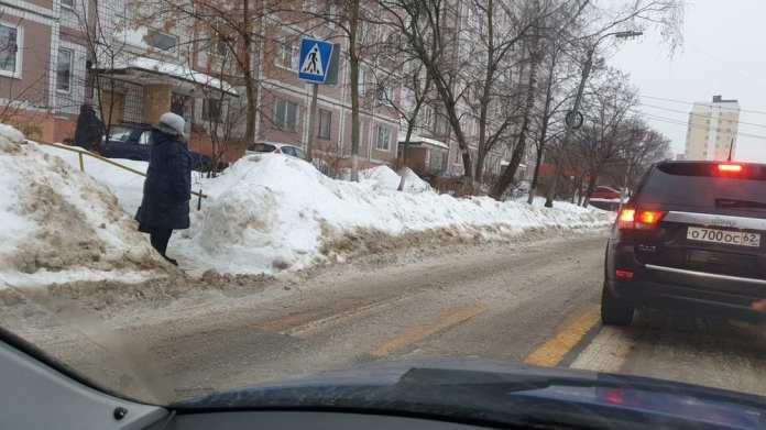 В Рязани появился пешеходный переход «в никуда»