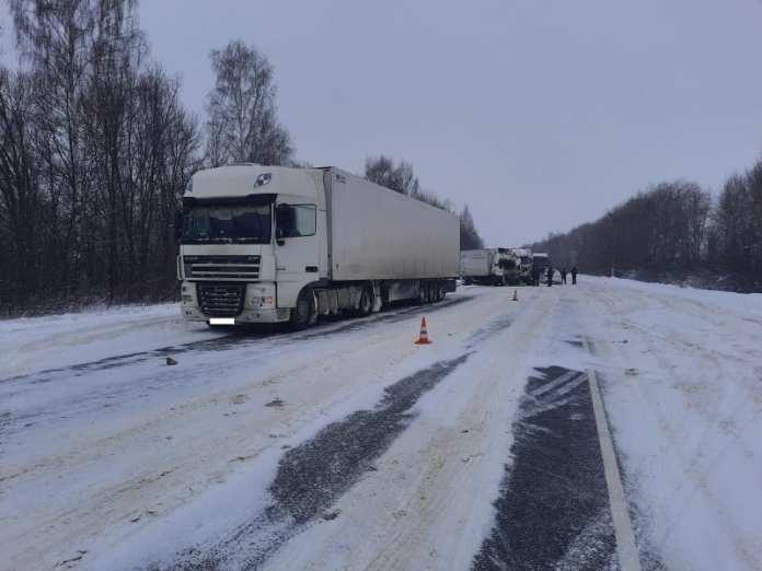 В аварии с двумя грузовиками на трассе М-5 в Шиловском районе погиб человек