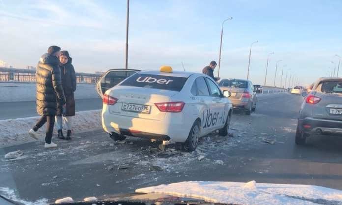 Массовое ДТП на Солотчинском мосту: столкнулись 11 машин