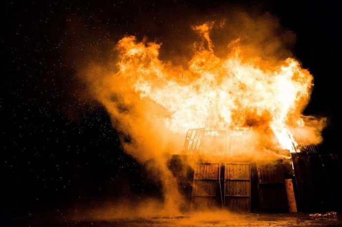 На пожаре в Касимовском районе пострадал человек
