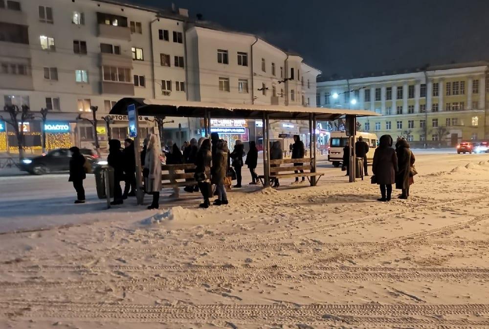 Рязанцы не могли уехать из центра города из-за проблем с общественным транспортом
