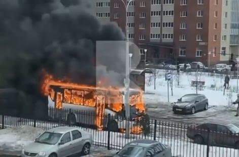 В Рязани сгорела маршрутка