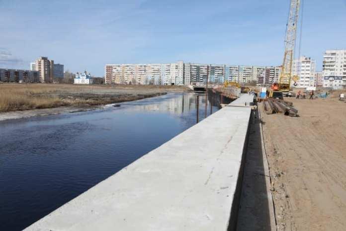 На укрепление береговой линии реки Кудьмы в Северодвинске потратят еще 115 млн рублей