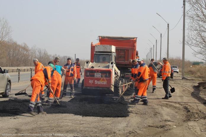 В Рязани завершили ямочный ремонт Северной окружной