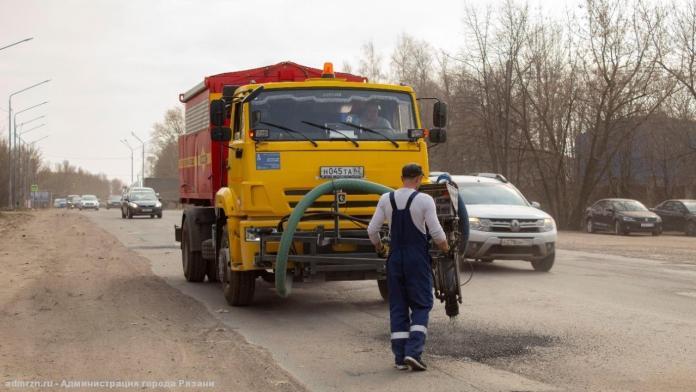 В Рязани отремонтировали более 17 000 квадратных метров дорог