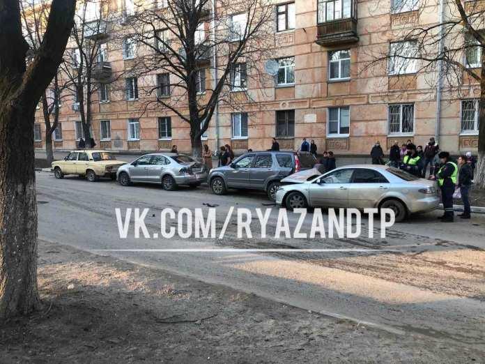На улице Гагарина в Рязани произошло массовое ДТП