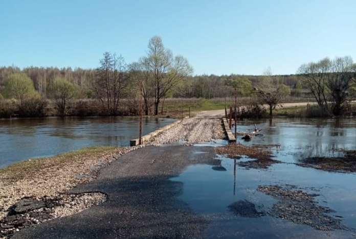 В Рязанской области открыли движение по подтопленным ранее мостам