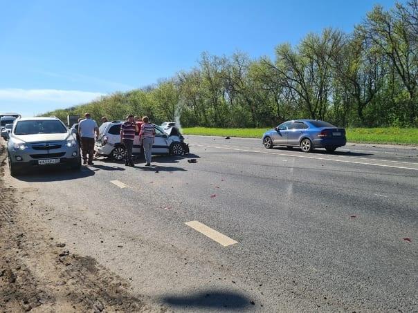 Появилось видео с места трагического ДТП на трассе М-5