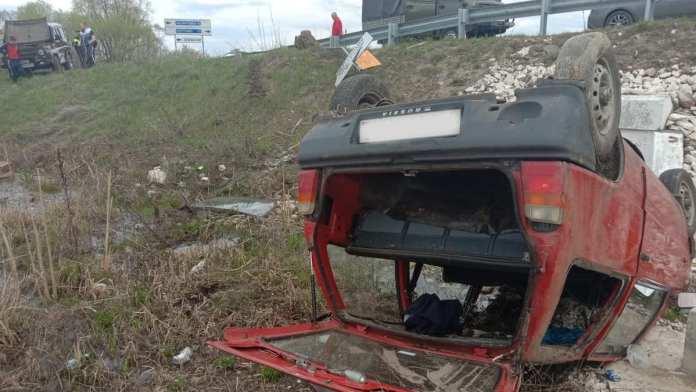 Появились фото с места ДТП в Чучковском районе, в котором пострадали подростки