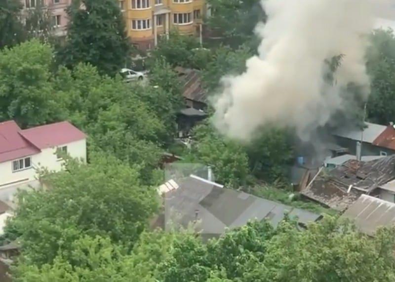 Пожар в центре Рязани