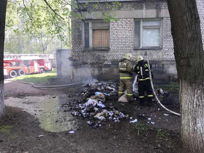 Опубликовано видео с места пожара в больнице No10