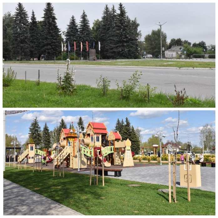 Администрация Сасова показала, как изменилась за год главная площадь города