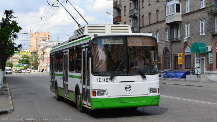 В Рязани временно изменили схему движения троллейбусов №6