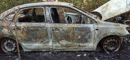 В Саранске нашли труп в сгоревшей машине