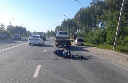 На трассе М-5 в Рязани столкнулись Daewoo Nexia и мотоцикл BMW