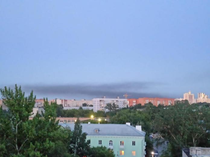 Над Рязанью заметили чёрный дым