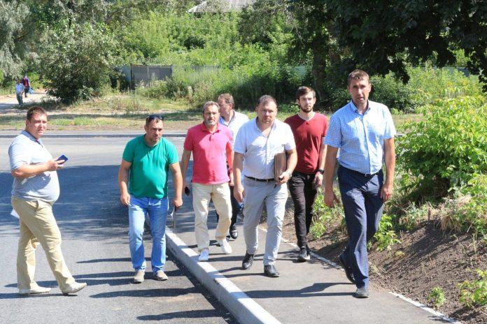 Депутаты Рязанской Областной и городской дум приняли ремонт дороги в центре города