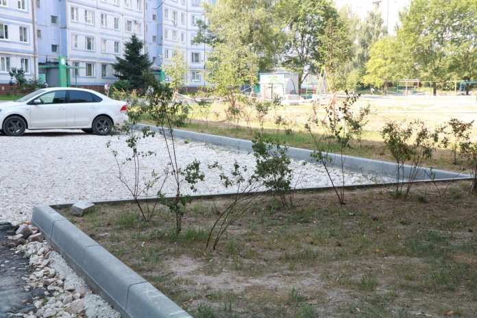 Сорокина осмотрела ход благоустройства дворов в Канищеве в Горроще