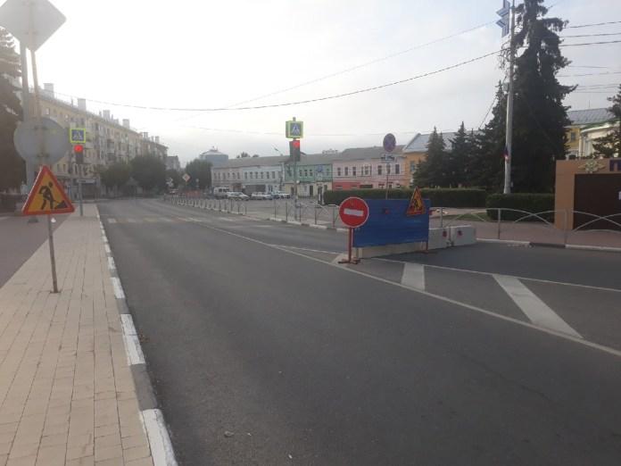 В центре Рязани перекрыли движение транспорта
