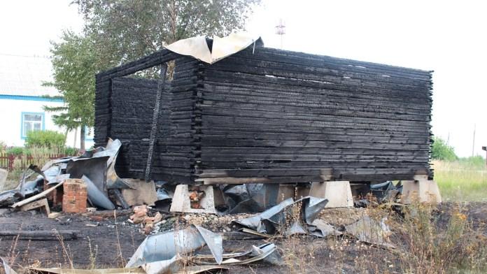 В Сараевском районе сгорело недостроенное здание часовни