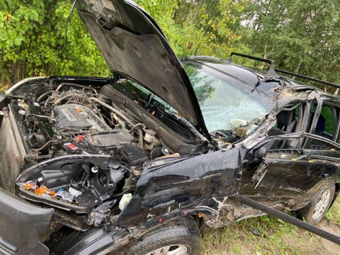 В Касимовском районе прицеп грузовика повредил легковушку