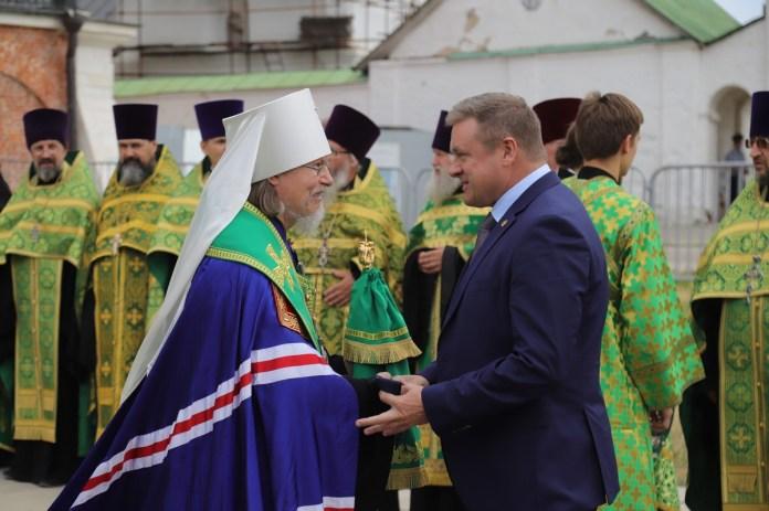 В Рязань привезли частицу мощей Александра Невского