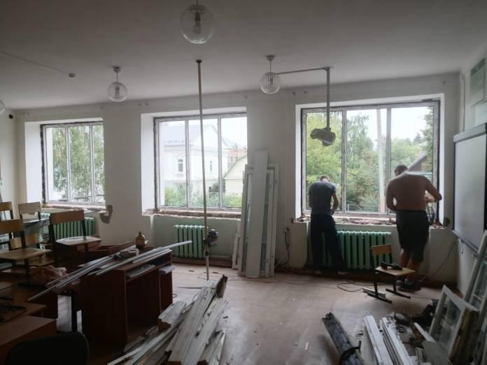 В сапожковской школе ремонт завершат к началу учебного года