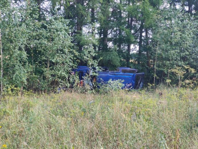 25-летний мужчина скончался в результате опрокидывания Ford Explorer в Шацком районе