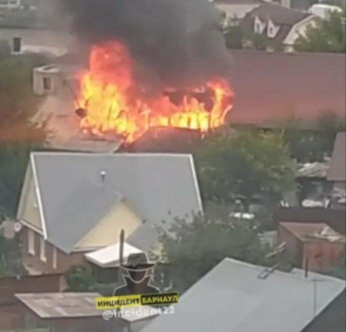 В Барнауле предотвратили пожар в частном доме