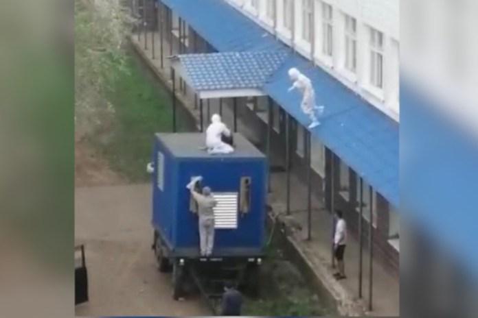 В Башкирии санитары ловили беглеца из ковид-госпиталя на прицепе грузовика