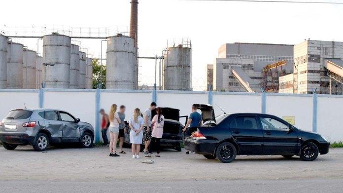 В Новомичуринске Hyundai протаранил три автомобиля