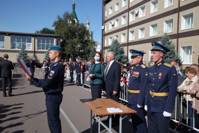 Первокурсники Рязанского десантного училища приняли присягу