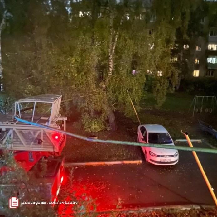 На улице Энгельса в Рязани пожарная машина повредила газовую трубу