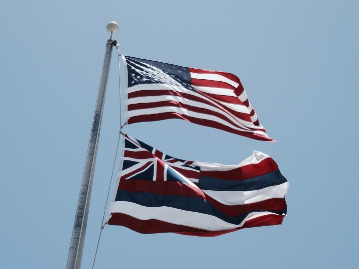 selbstfindungsreise hawaii usa flagge