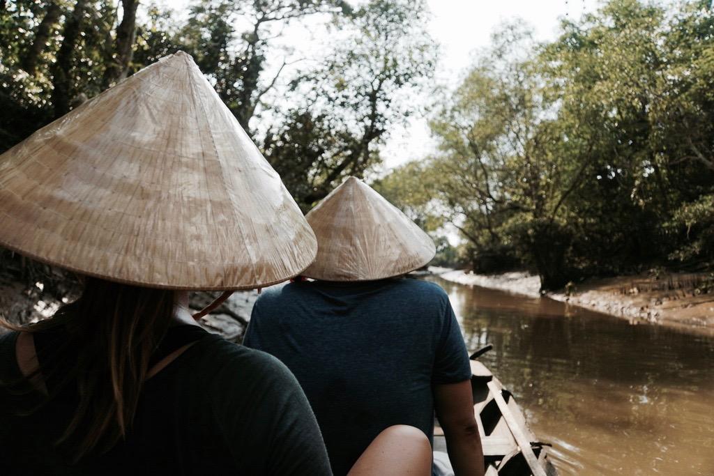 Bootsfahrt in Mekong