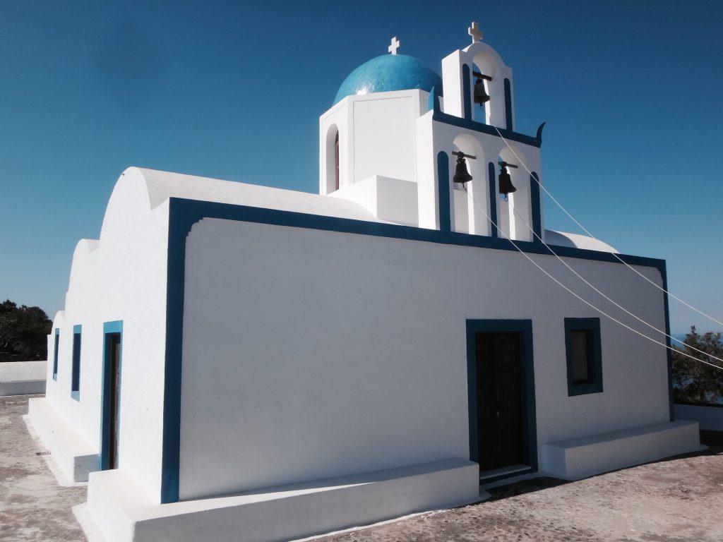 santorini fira oia imerovigli kapelle