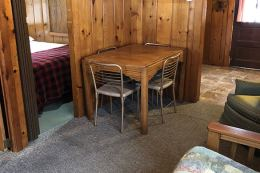 Table and chairs.
