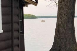 Fishing on Paradise Lake.
