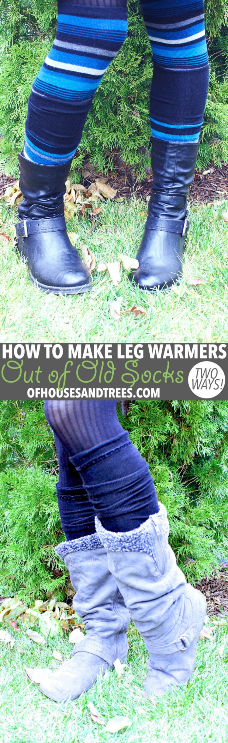DIY Leg Warmers | Leg warmers aren't just for dancers. They keep the legs toasty and also look kind of cute, no? Here are two ways to make DIY leg warmers out of old socks!DIY Leg Warmers | Leg warmers aren't just for dancers. They keep the legs toasty and also look kind of cute, no? Here are two ways to make DIY leg warmers out of old socks!