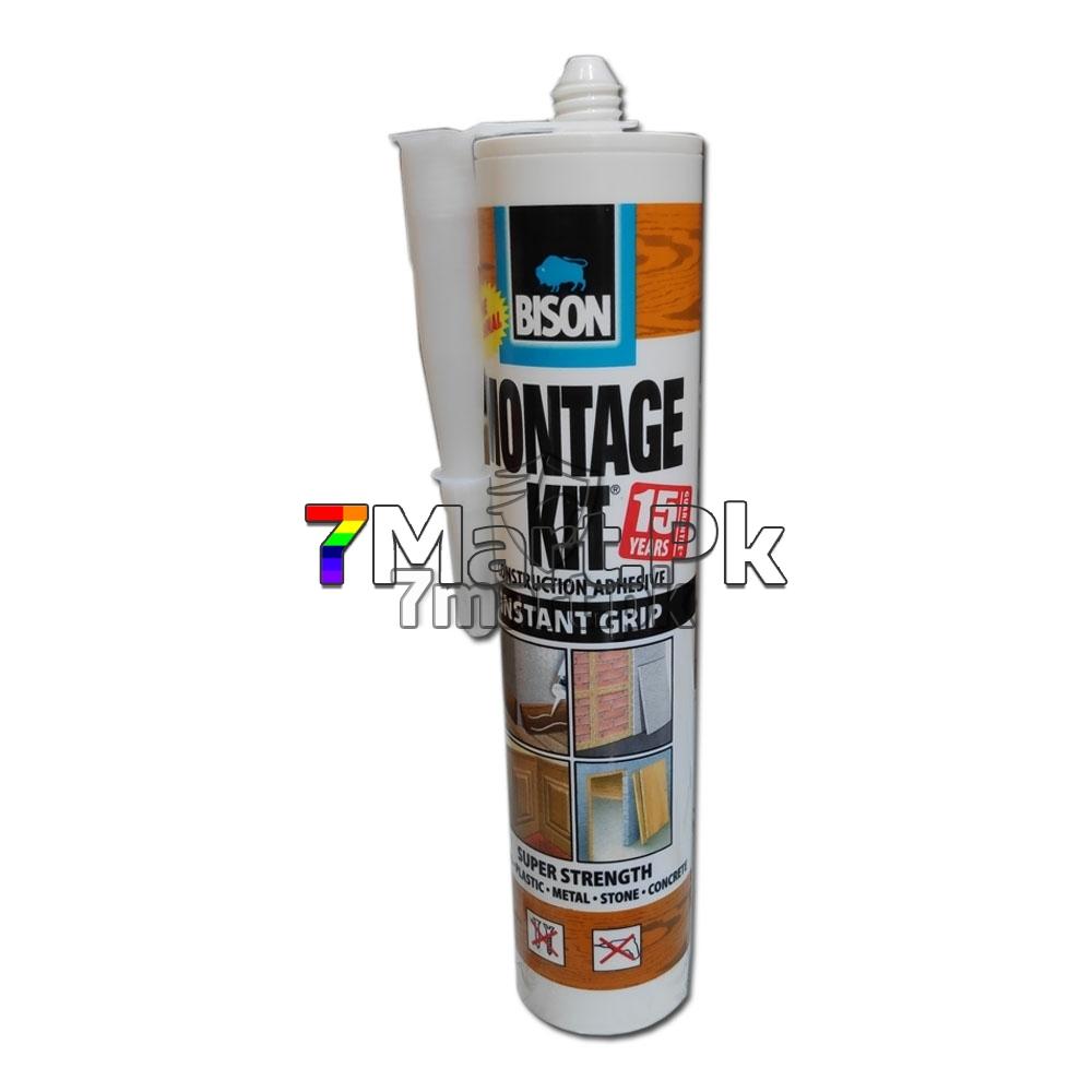 Genoeg Bison Montage kit White Construction Adhesive   7mart KY31