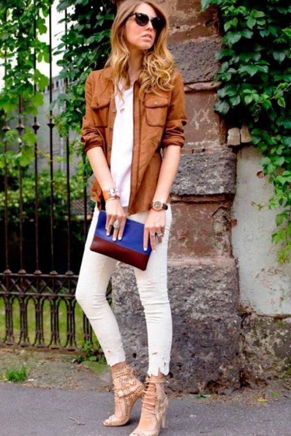 С чем носить кожаную куртку девушке (фото)